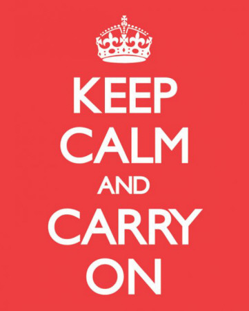 cosa vuol dire keep calm and carry on