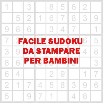 Un facile sudoku da stampare per bambini iltuocruciverba for Enigmistica facile da stampare