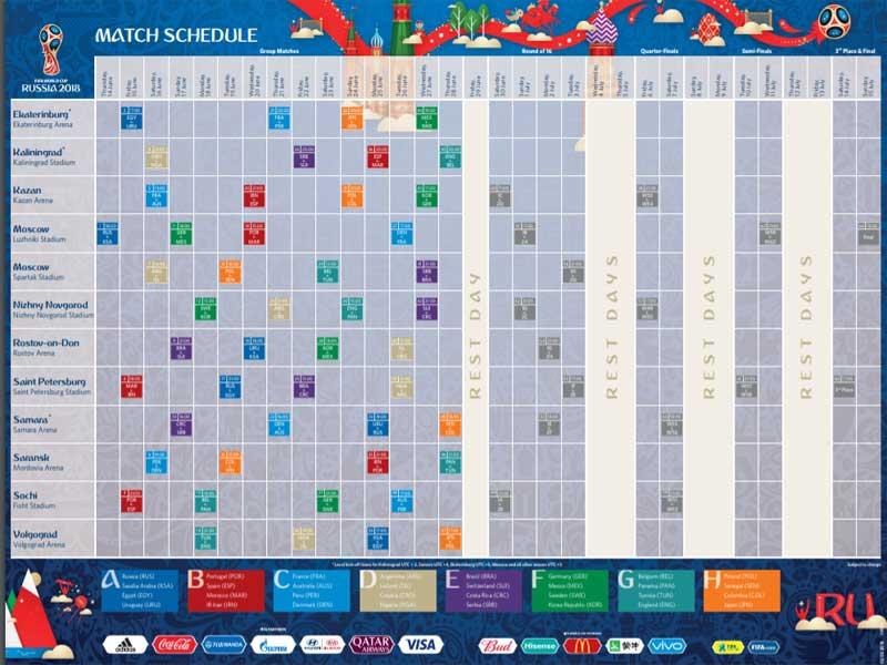 Mondiali Calendario.Calendario Dei Mondiali Di Calcio Da Stampare Iltuocruciverba