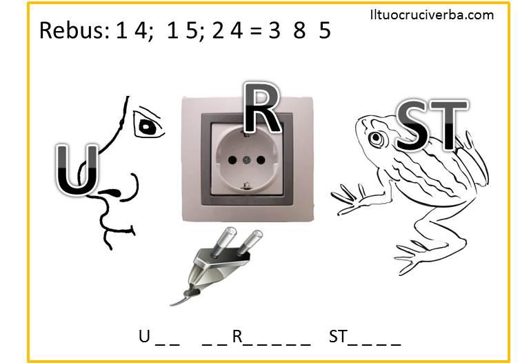 Rebus da stampare per bambini numero 10 iltuocruciverba for Rebus facili da stampare