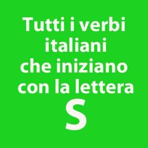 tutti i verbi che iniziano con la lettera S