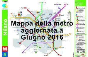 mappa della metro di Milano