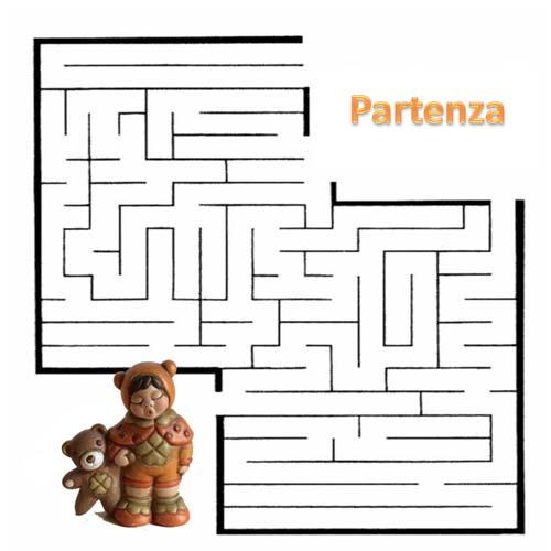 Gioco labirinto da stampare per bambini for Enigmistica facile da stampare