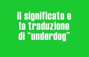 significato di underdog
