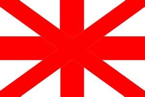 Bandiera Regno Unito senza la Scozia
