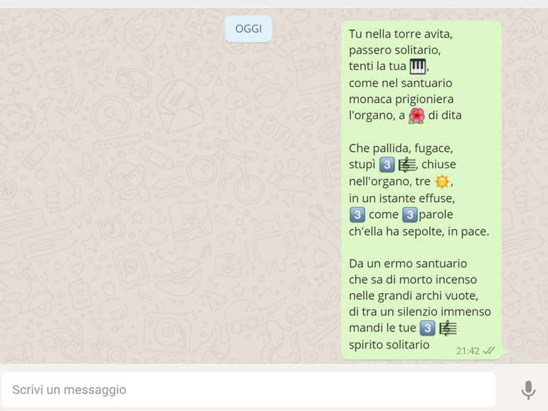 poesia giovanni pascoli con emoji