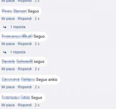 cosa significa seguo nei commenti Facebook