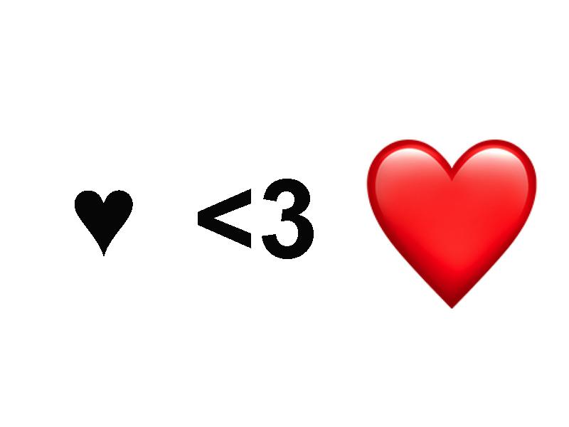 fare il cuore con la tastiera