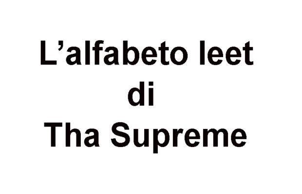alfabeto leet tha supreme 23 6451