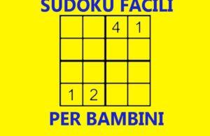 sudoku per bambini