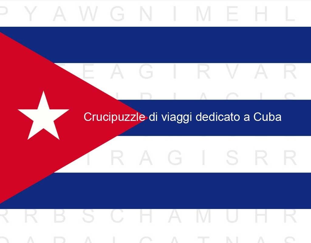 Crucipuzzle di viaggi dedicato a Cuba