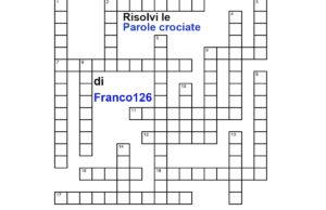 il cruciverba di parole crociate di Franco126