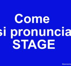come si pronuncia stage