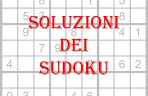 soluzioni dei sudoku