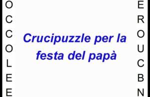 crucipuzzle regalo festa del papà