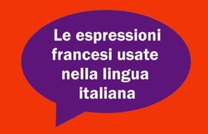 elenco di parole francesi usate in italiano